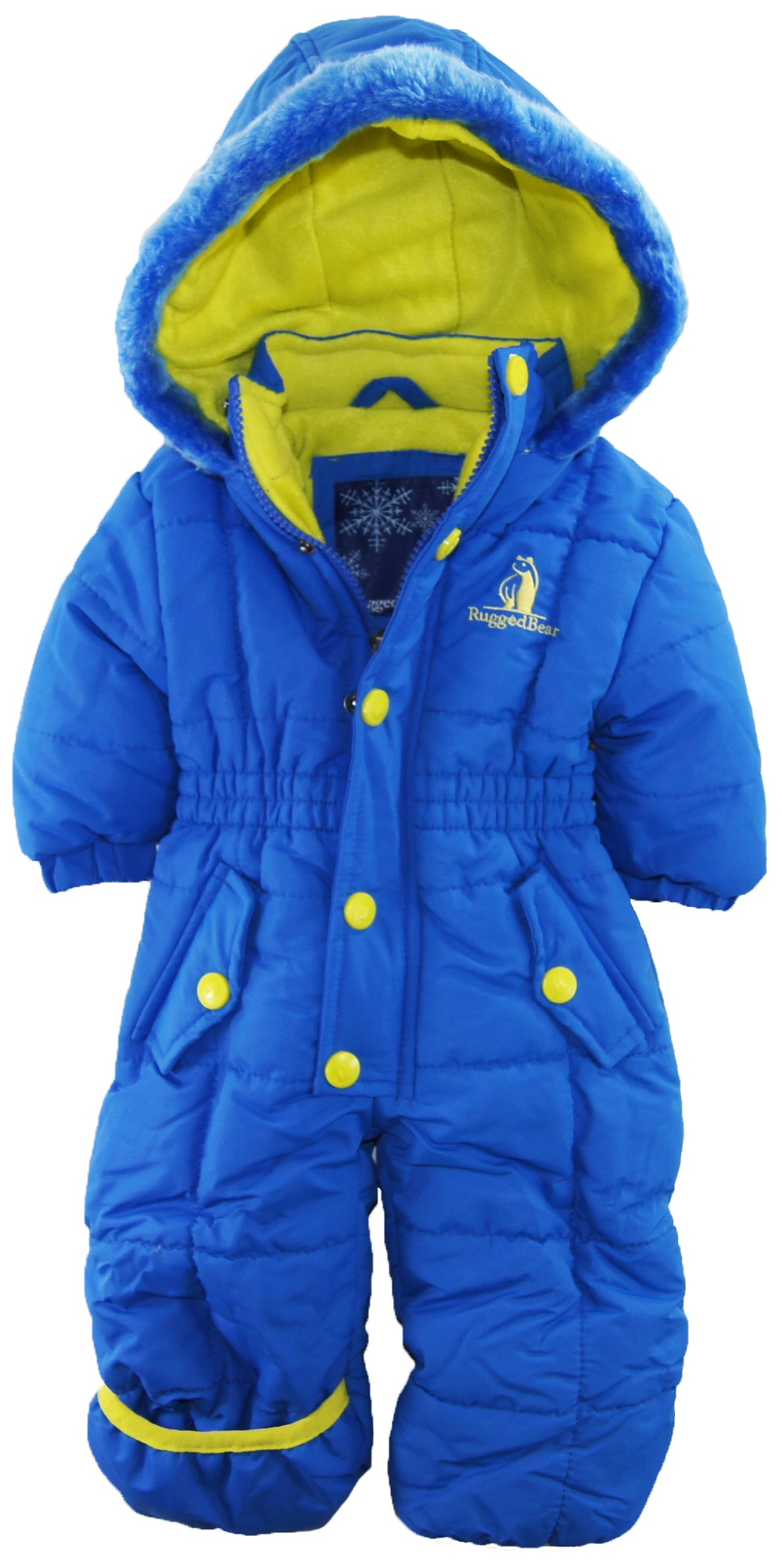 Rugged Bear Baby & Toddler Jackets & Outerwear. Rugged Bear. Rugged Bear Baby & Toddler Jackets & Outerwear. Showing 23 of 23 results that match your query. Rugged Bear Baby Boys' Robot Snowsuit and Coat Ski Snowboarding. Product - Rugged Bear Baby Boys' Solid Patch Pocket Snowsuit.