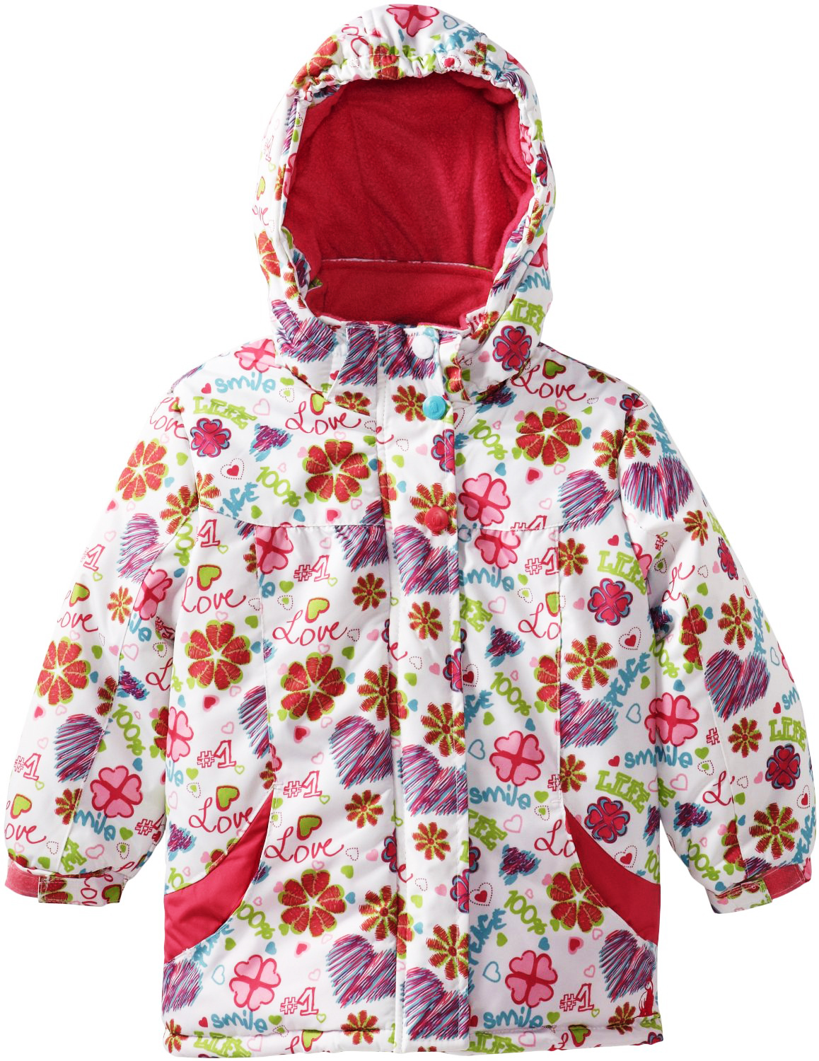 Rugged Bear Baby-Girls Love All Over Printed Ski Winter Jacket Coat at Sears.com