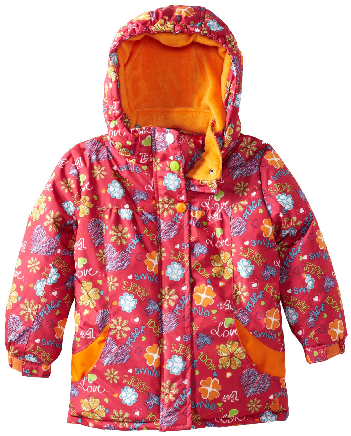 Rugged Bear Baby-Girls Infant Floral Love All Over Printed Ski Winter Jacket at Sears.com