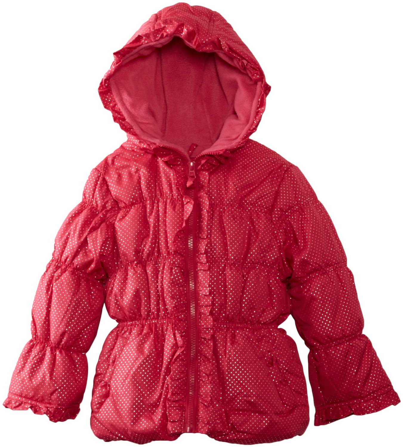 Pink Platinum Baby-Girls Infant Polka Dots Hooded Winter Jacket-Coat at Sears.com