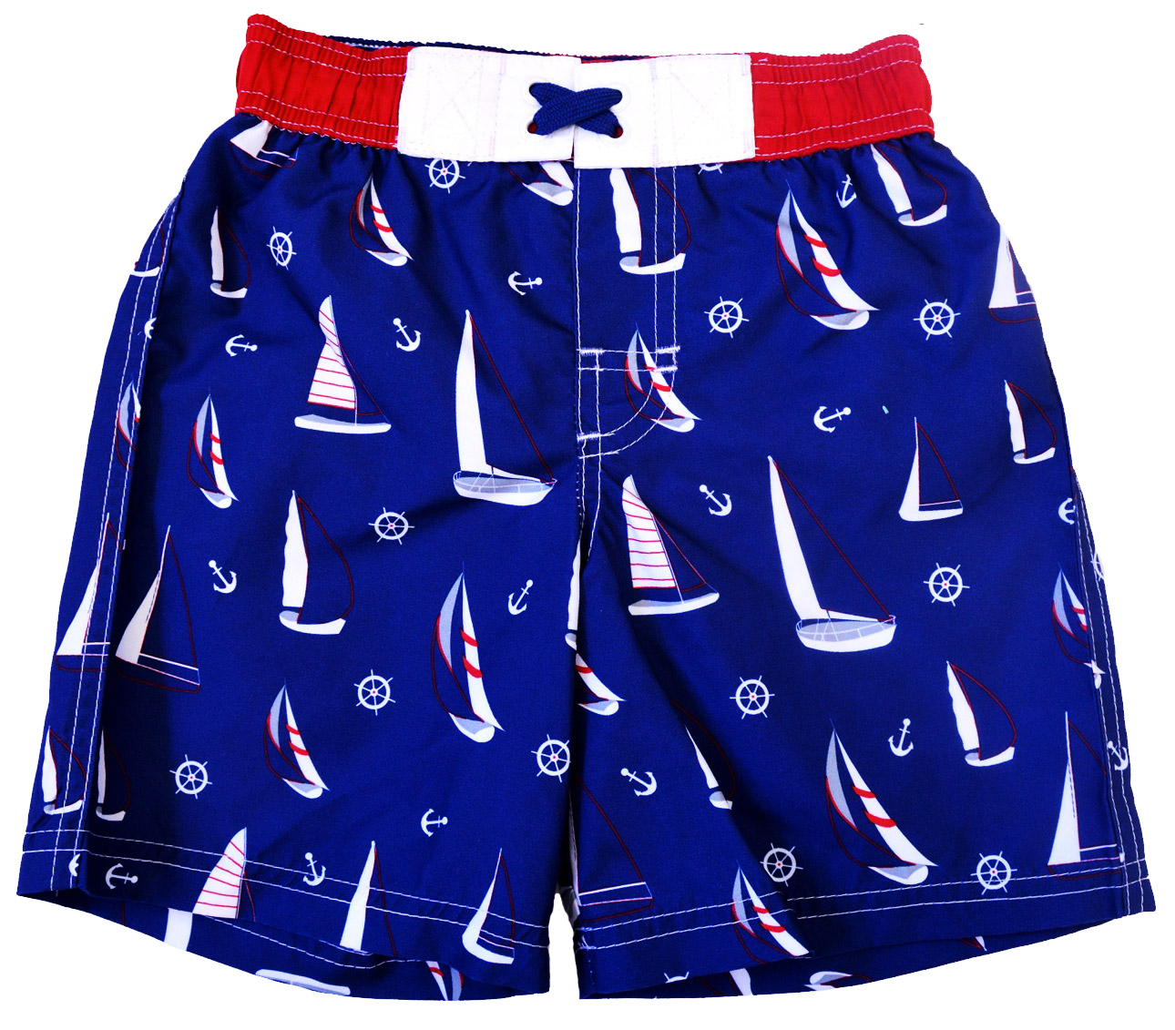 Rugged Bear Baby Boys Allover Sailing Boats Swim Trunk