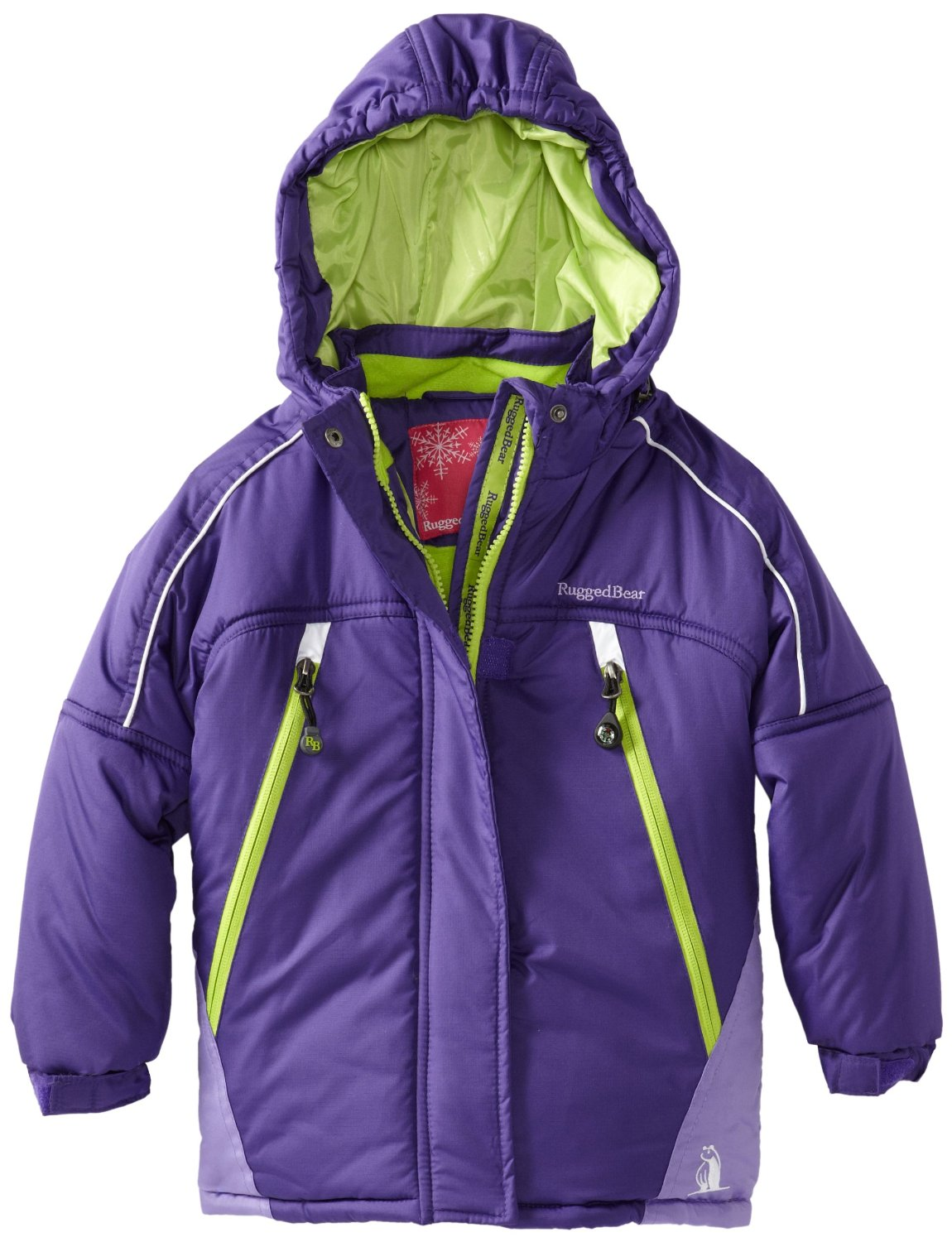 Rugged Bear Toddler Girls Color Block Purple Snow Ski Jacket / Coat 2T 3T 4T at Sears.com