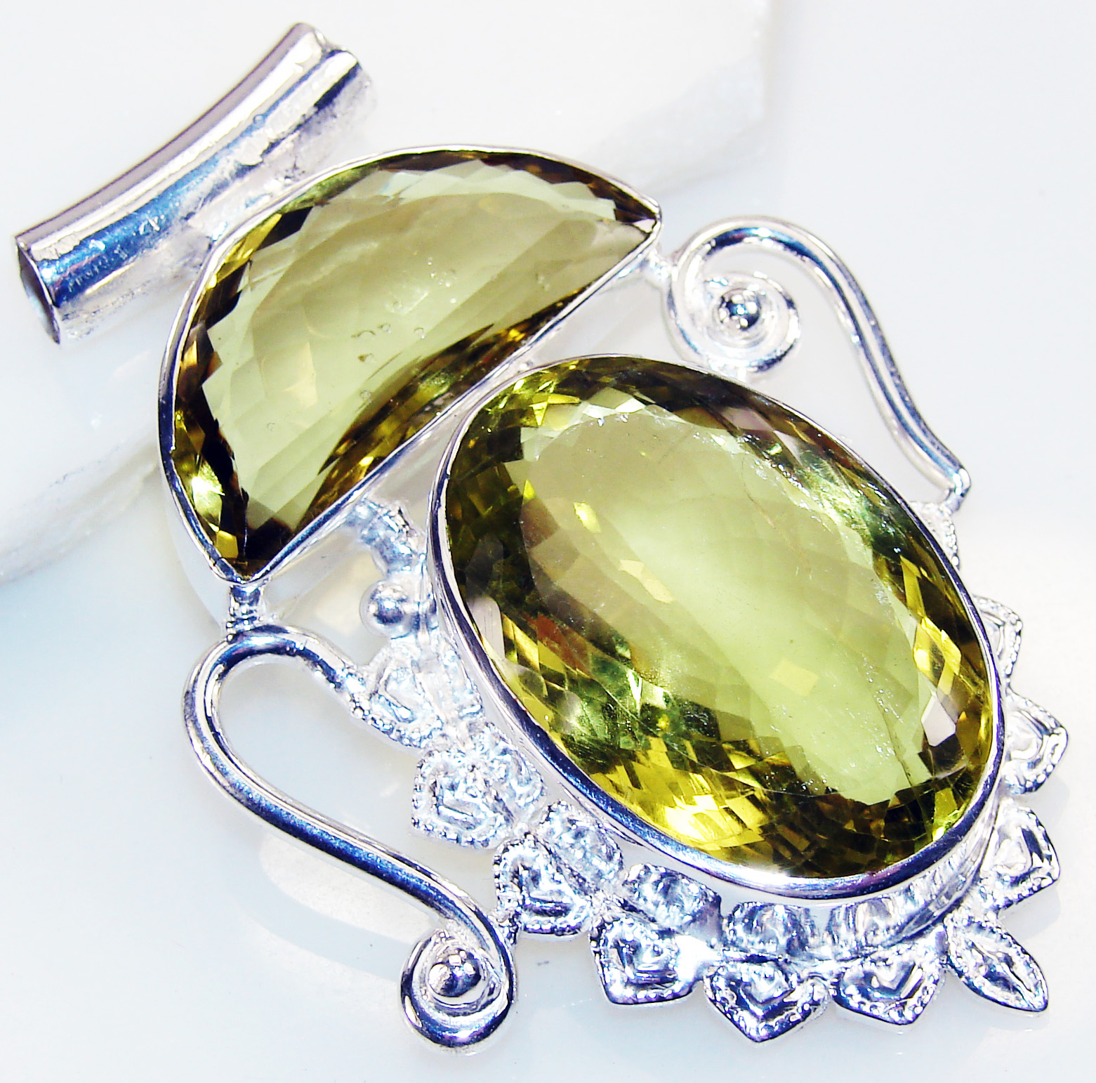 Silver Jewelry Gemstone Rare Exotic Colorful  Handmade  Citrine Sterling Silver      Pendant          Citrine  Pendant at Sears.com