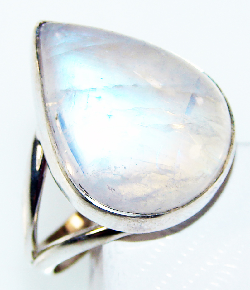 Silver Jewelry Gemstone Royal Fire Moonstone Handmade Sterling Silver Great Style Ring Size 7 at Sears.com