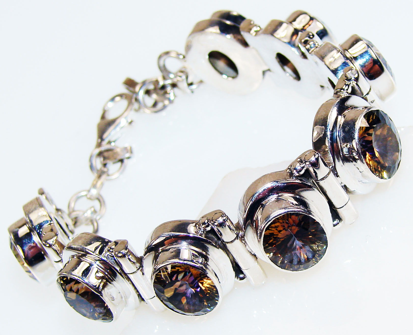 Silver Jewelry Gemstone Rare Exotic Colorful  Handmade  Golden Mistic Topaz Sterling Silver      Bracelet          Golden Mistic Topaz  Bracelet at Sears.com