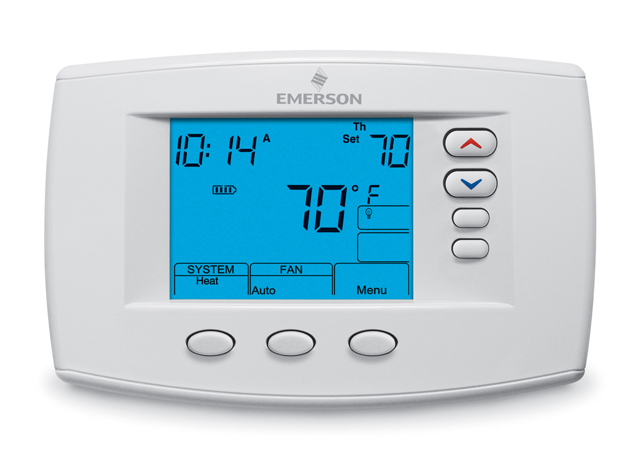 "White rodgers 1F95-0671 Emerson Blue 6"" Touchscreen Multi-Stage 7-Day Programmable Thermostat at Sears.com"