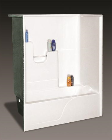OasisTS 6032L White Shower/Tub Stall