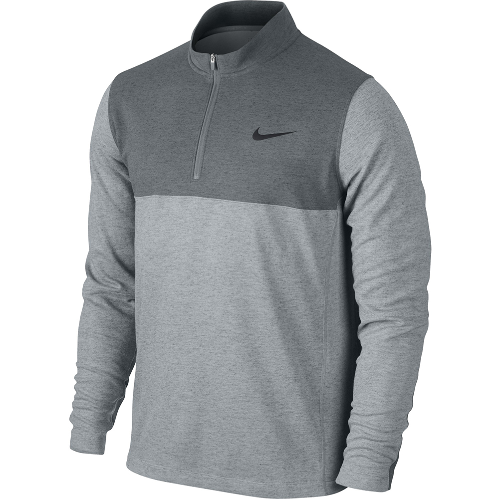 new men 39 s nike dri fit wool 1 2 zip golf pullover jacket choose your size ebay. Black Bedroom Furniture Sets. Home Design Ideas