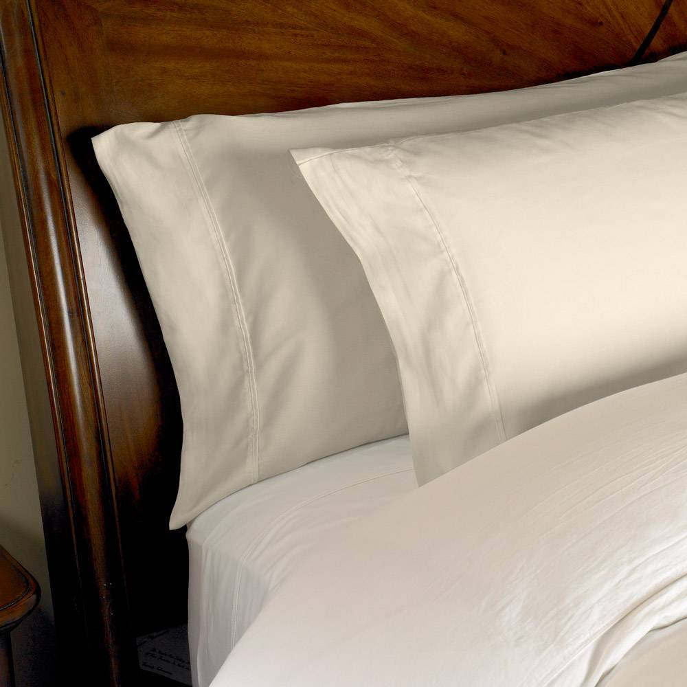 1000 Thread Count 2pc PillowCase Set Cotton by eLuxury Standard Solid Ivory