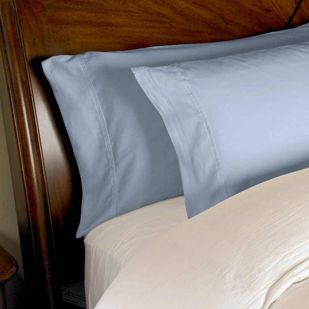 1000 Thread Count 2pc PillowCase Set Cotton by eLuxury King Solid Medium Blue
