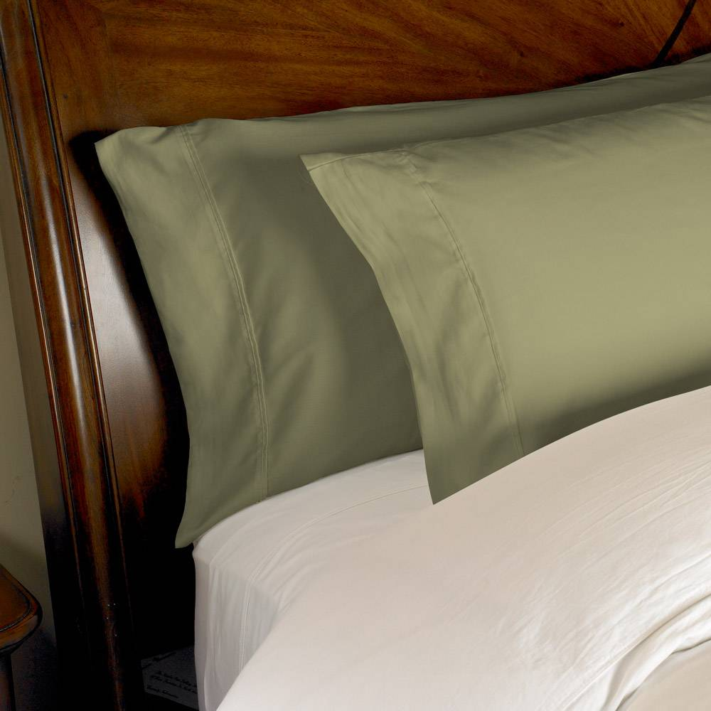 1000 Thread Count 2pc PillowCase Set Cotton by eLuxury King Solid Sage