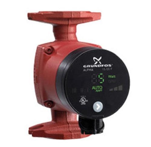 Grundfos ALPHA 15-55F 115V Cast Iron Circulator Pump Check Valve 59896877