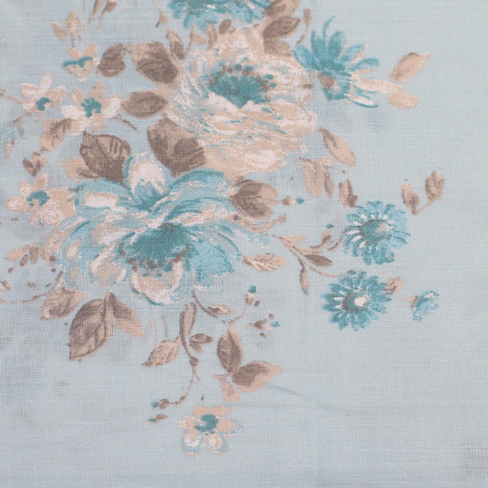 Shabby Cottage Floral Chic Bedding - White & Duck Egg Blue , For Girls