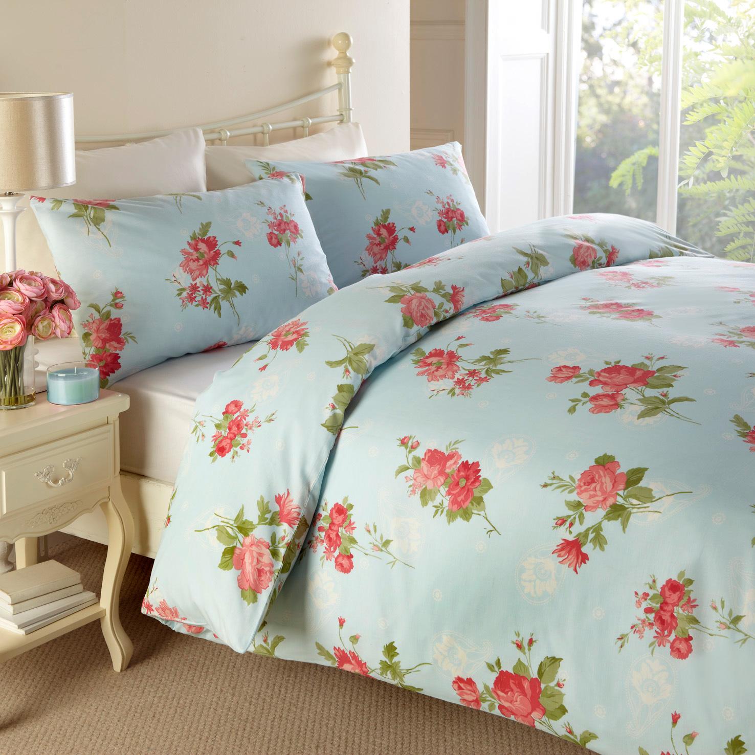 Traditional Floral Printed Bedding Vintage Duvet Cover