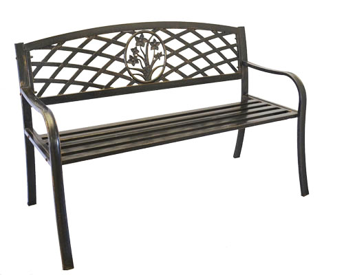 Metal Flower Bouquet Park Bench Cast Iron Bench For Yard Or Garden Ebay