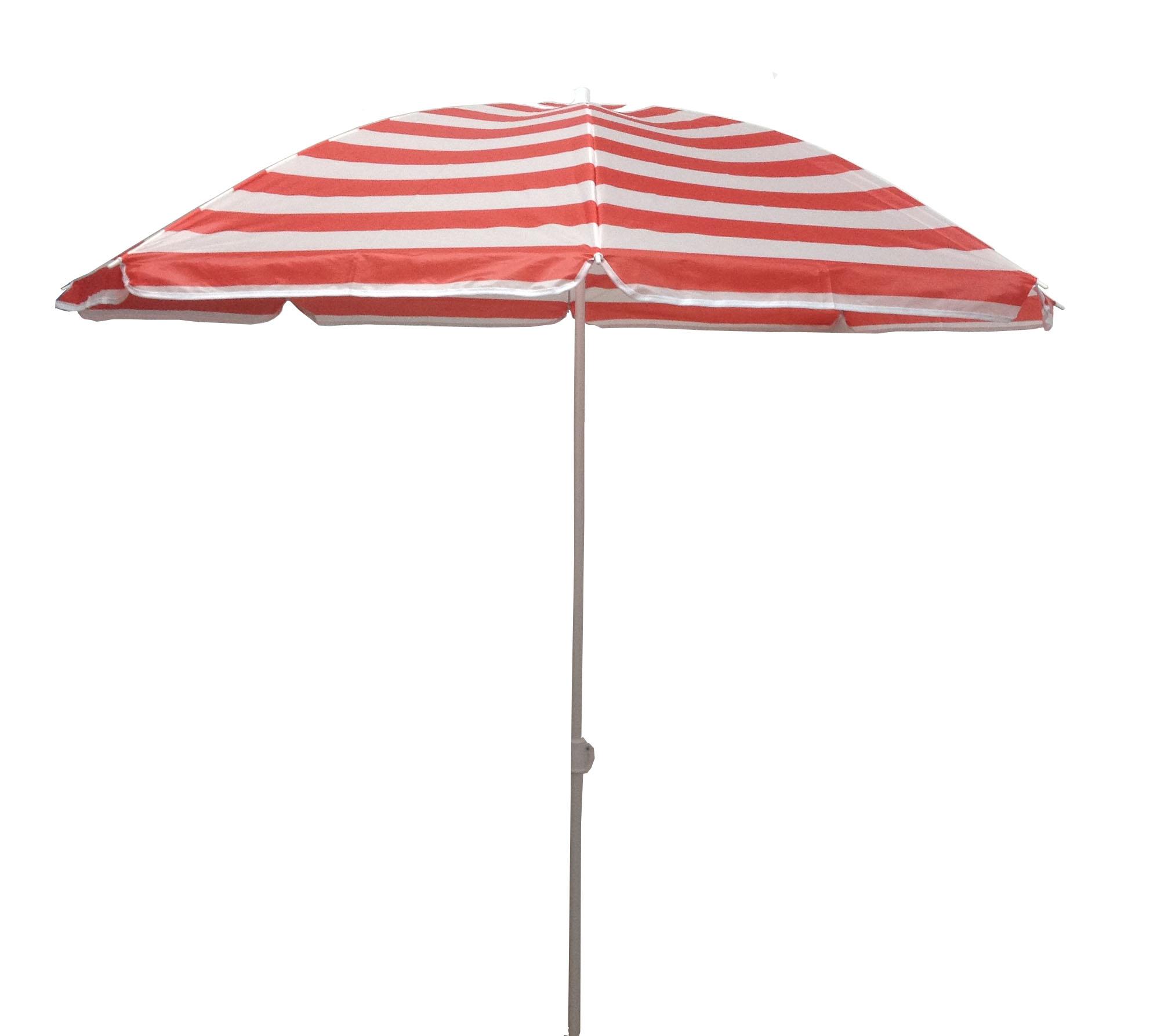 6 5 ft outdoor beach umbrella crimson stripe ebay. Black Bedroom Furniture Sets. Home Design Ideas