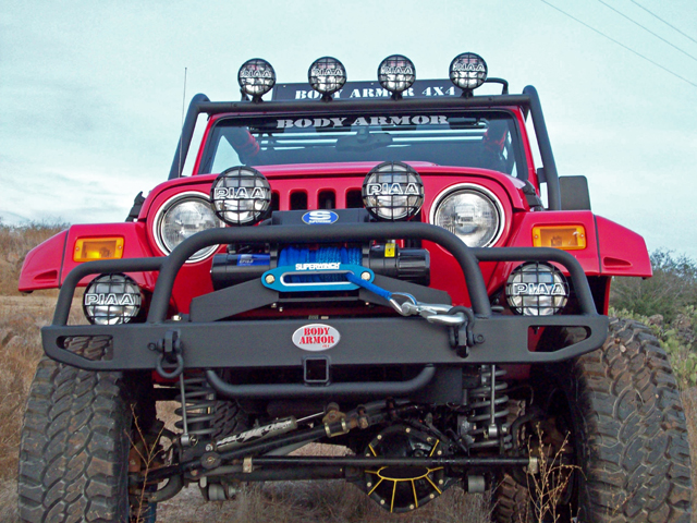 Jeep Grill Guards And Bumpers : Body armor jeep front tubular bumper grille guard yj