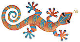 Geckos abound in Regal Art and Gifts metal art
