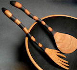 Check out the wild and crazy spoons by Jonathan's Cherry Spoons.
