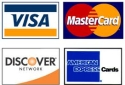 Checkout Securely with any Major Credit Card