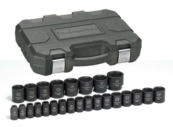 "GearWrench 84933 25 Piece Metric Impact Socket 1/2"" Drive Set at Sears.com"