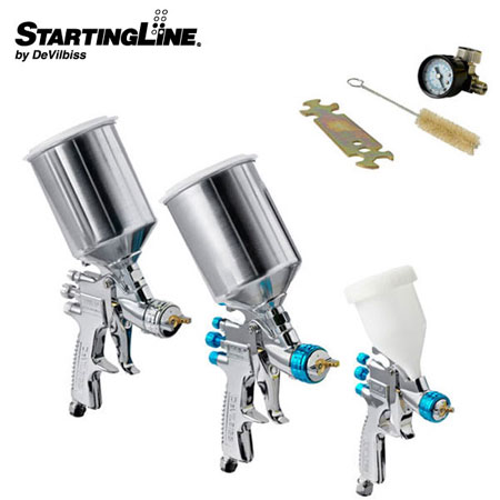 Devilbiss Auto SPRAY PAINT 3 HVLP Gravitiy Feed GUN Kit at Sears.com