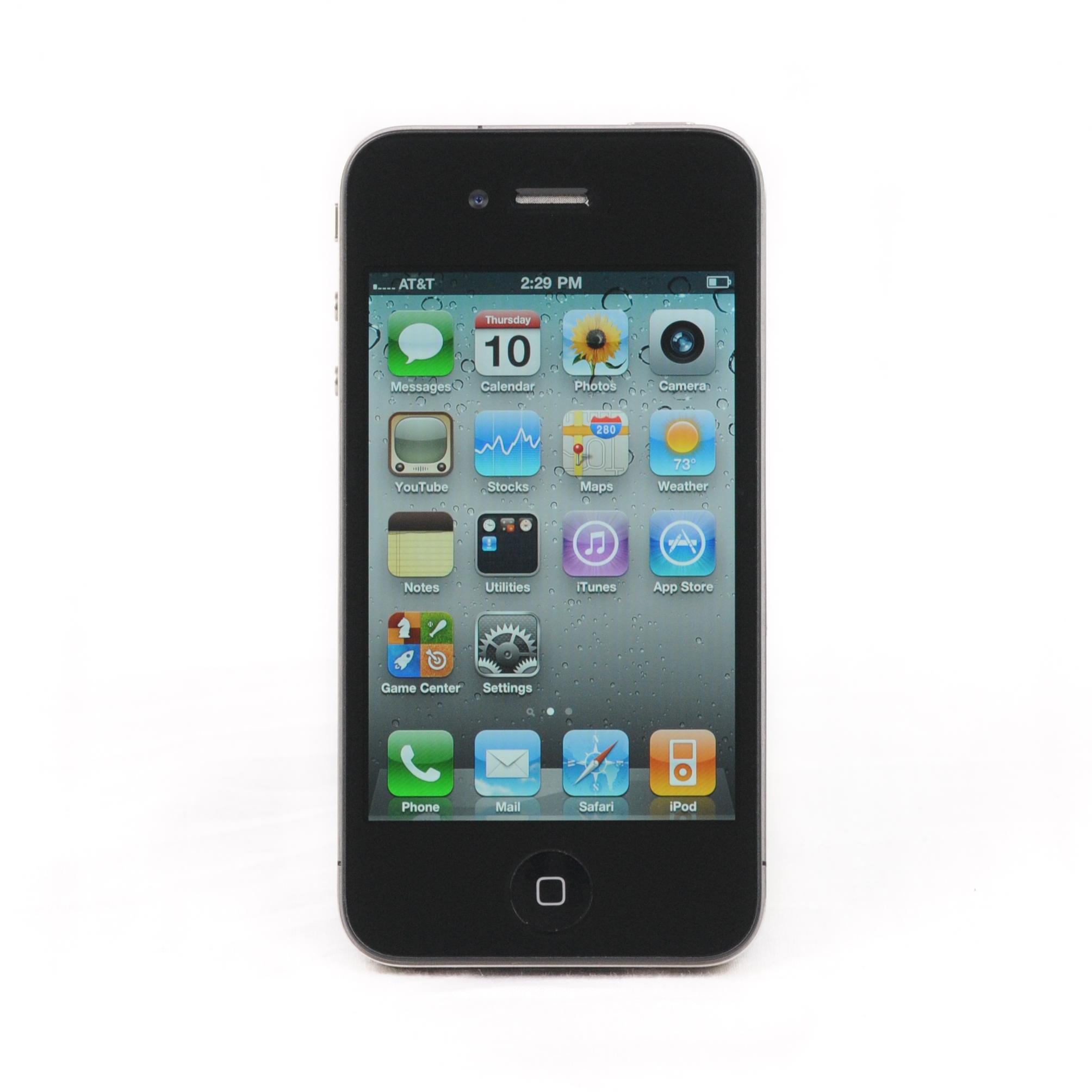 apple iphone 4 8gb fair condition black at t smartphone ebay