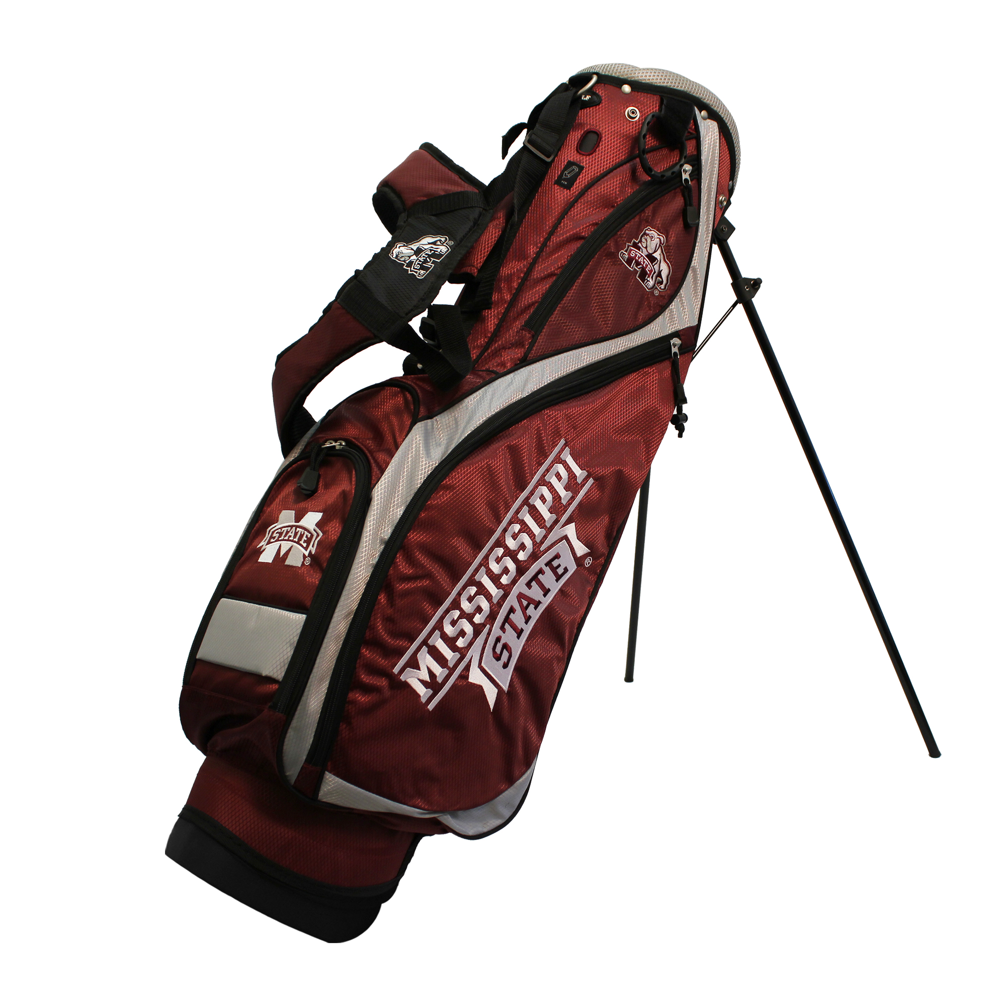 Light Stand Golf Bag: Mississippi State Bulldogs Team Golf Nassau Light 4-Way