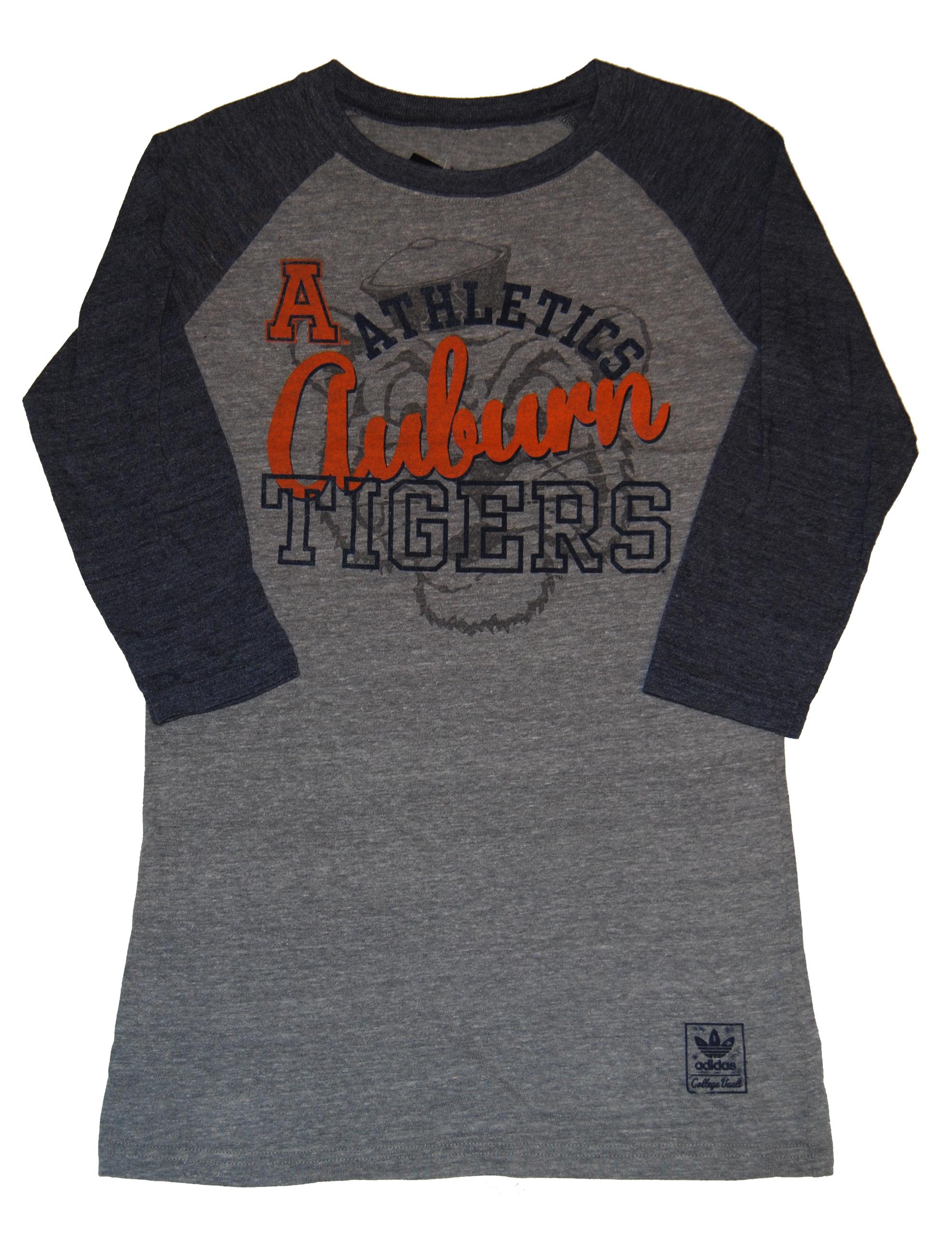 Adidas Auburn Tigers  Womens Gray Navy Athletics Three Quarter Sleeve T-Shirt (S) at Sears.com