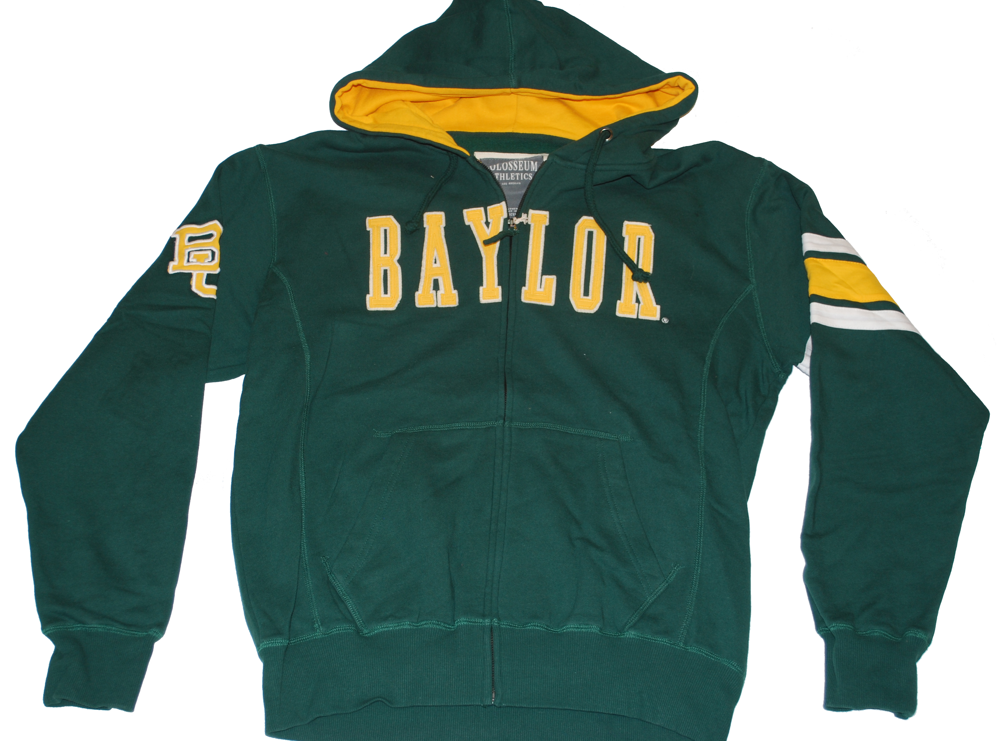 Colosseum Baylor Bears Colosseum Athletics Zip Up Hooded Green Sweatshirt Jacket (L) at Sears.com