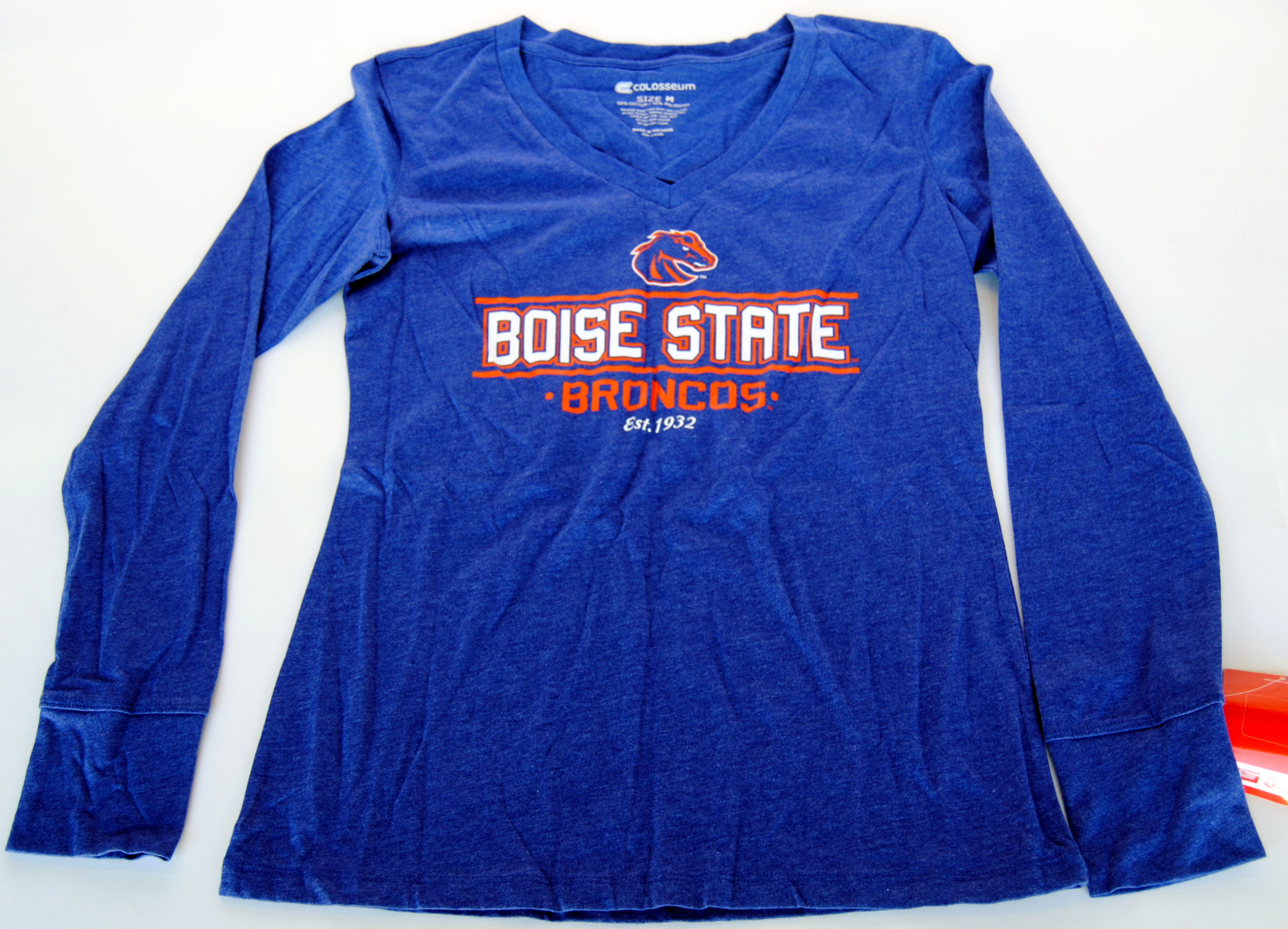 Colosseum Athletics Boise State Broncos Colosseum Athletics Blue Women's Long Sleeve T-Shirt (M) at Sears.com