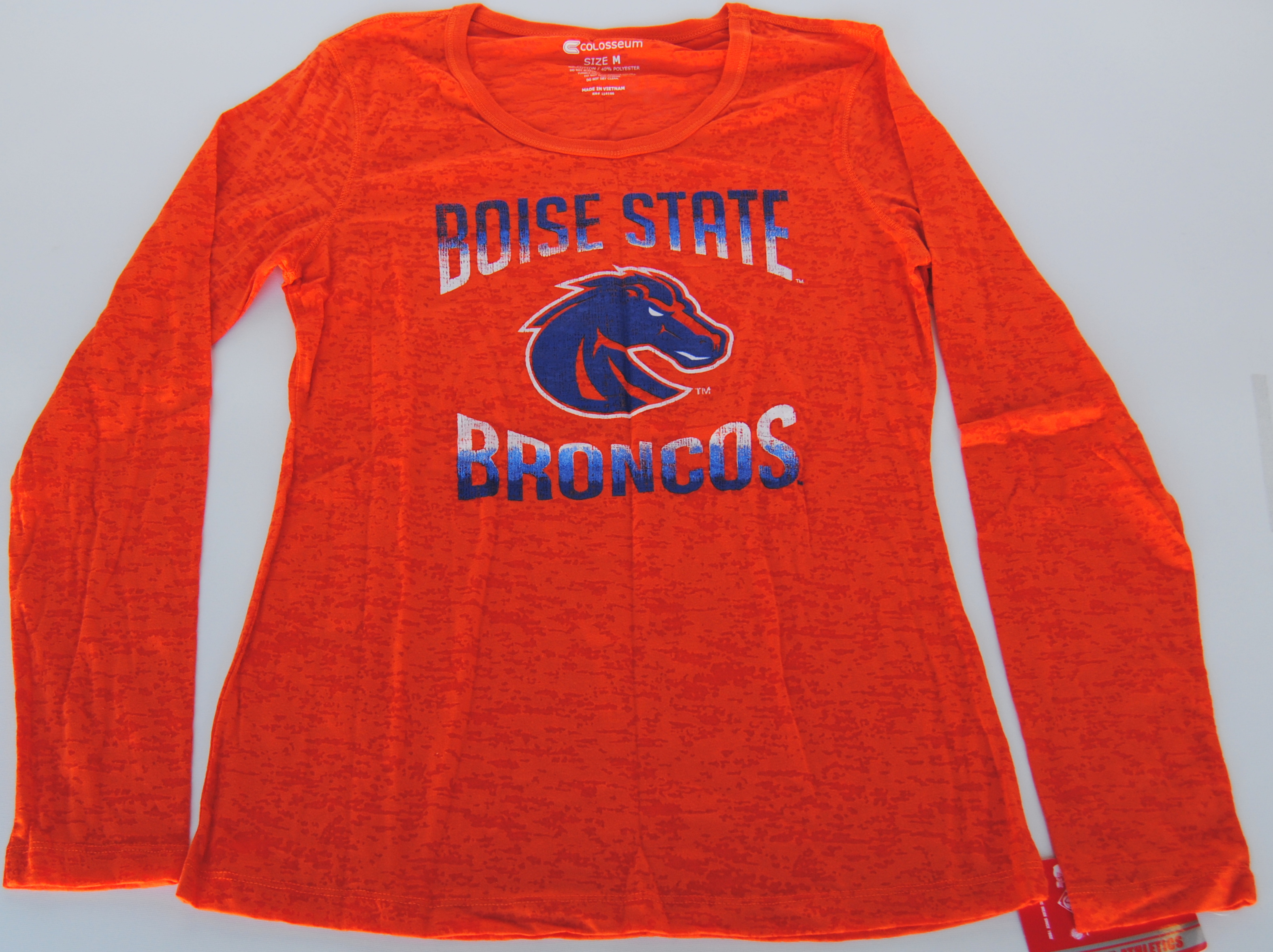 Colosseum Athletics Boise State Broncos Colosseum Athletics Orange Women's Long Sleeve T-Shirt (M) at Sears.com