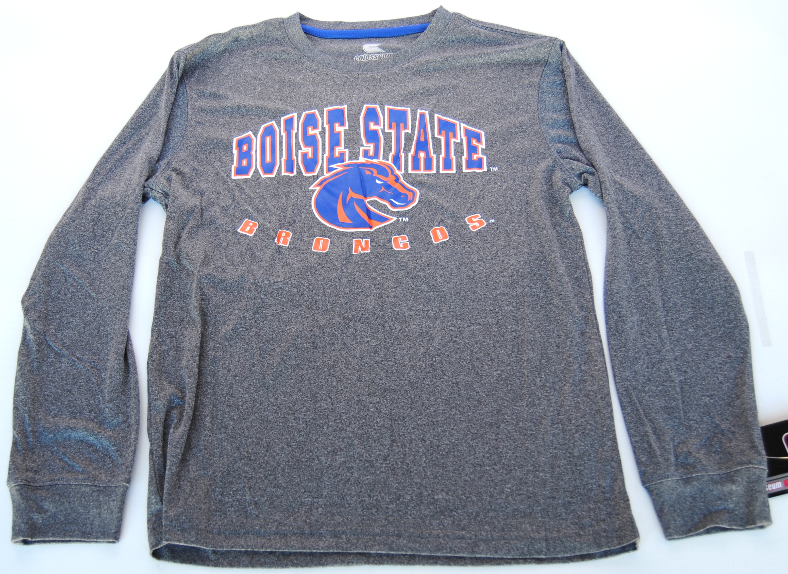 Colosseum Athletics Boise State Broncos Colosseum Athletics Gray Youth Long Sleeve T-Shirt 16-18 (L) at Sears.com