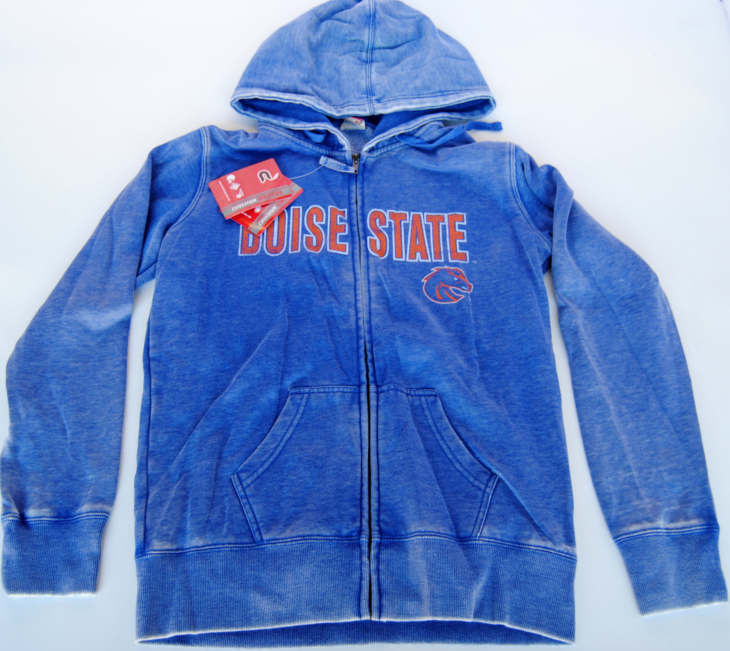 Colosseum Athletics Boise State Broncos Colosseum Blue Women's Zip Front Hooded Sweatshirt (M) at Sears.com