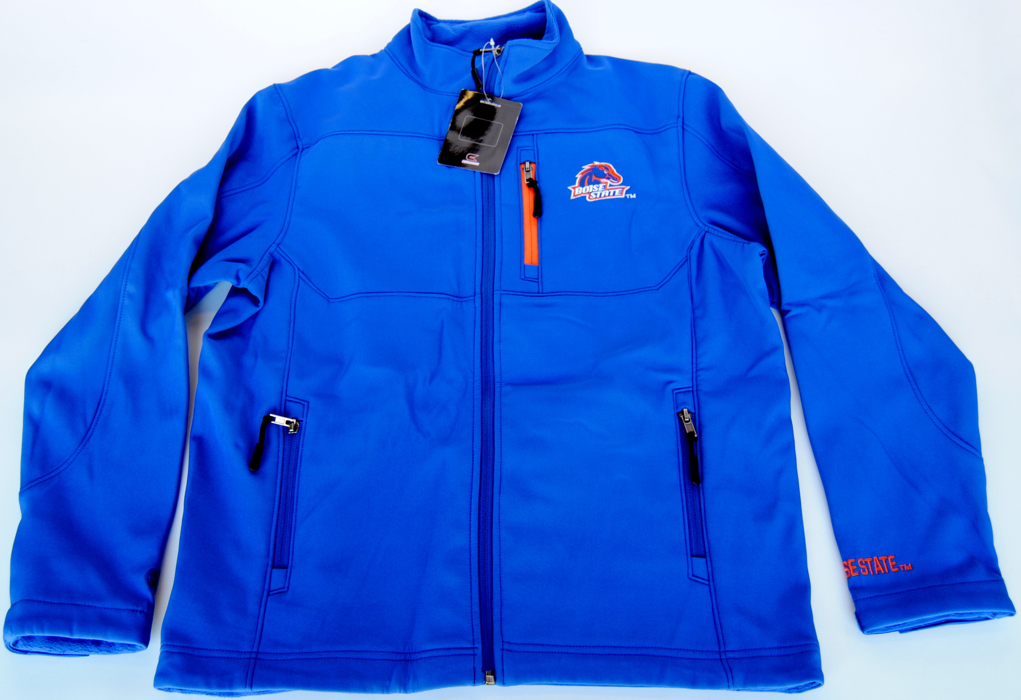 Colosseum Athletics Boise State Broncos Colosseum Blue Youth Zip Front Fleece Jacket 16-18 (L) at Sears.com