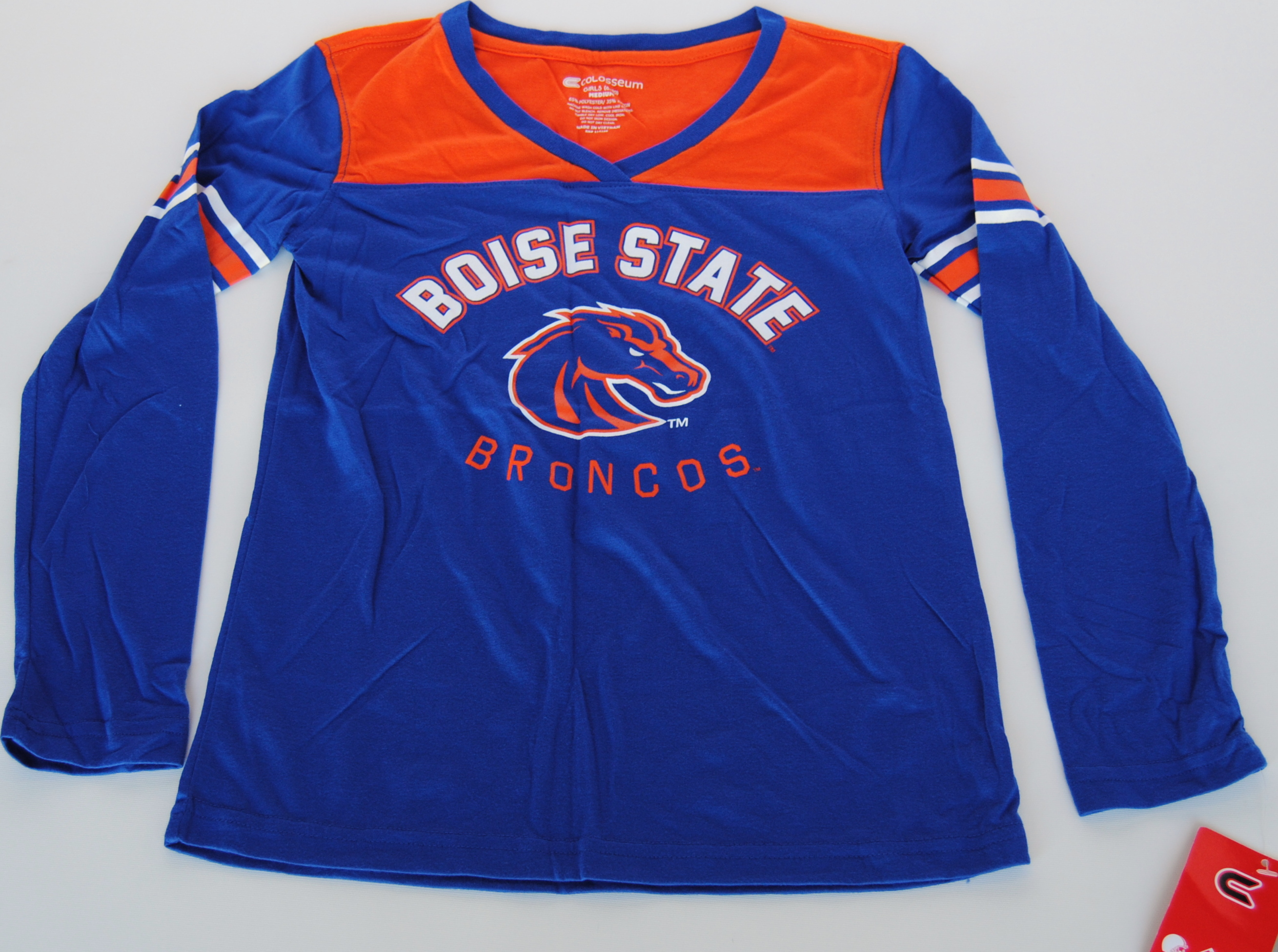Colosseum Athletics Boise State Broncos Colosseum Blue Orange Womens Long Sleeve T-Shirt (M) at Sears.com