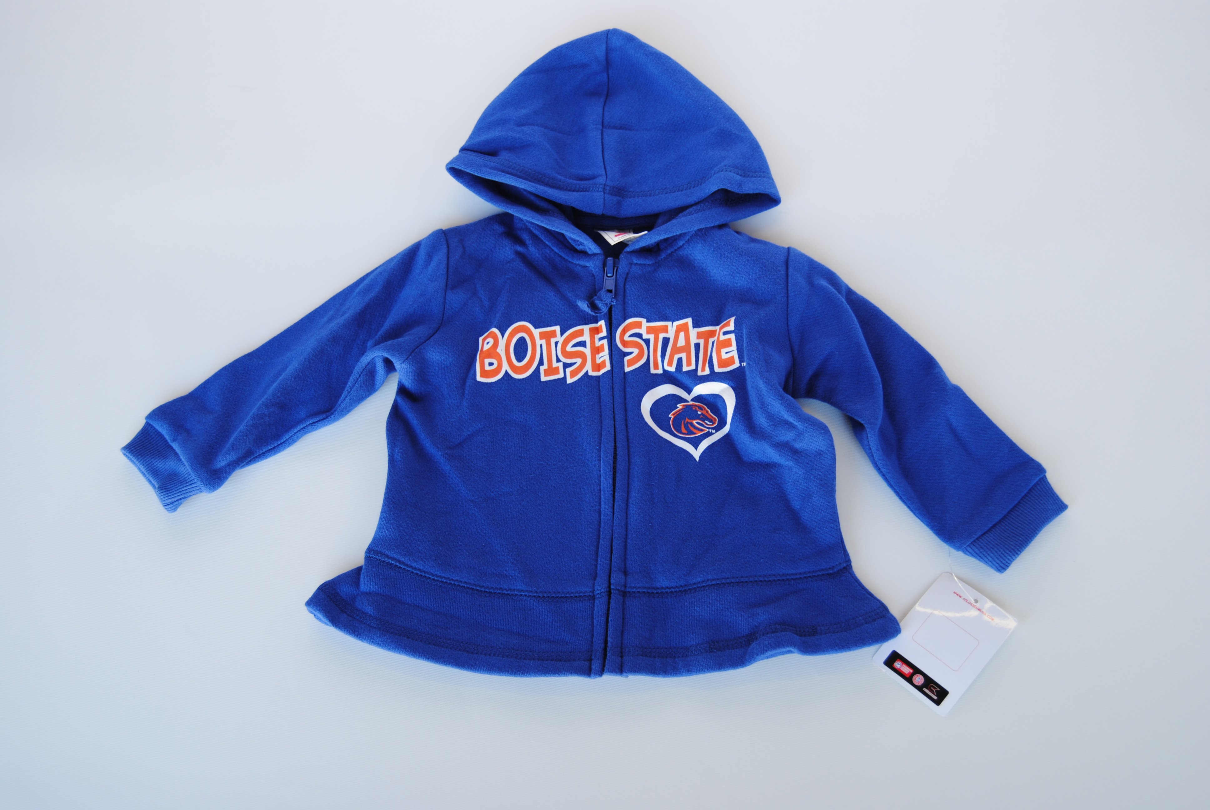 Colosseum Athletics Boise State Broncos Colosseum Blue Infant Zip Front Hooded Sweatshirt (6-12M) at Sears.com