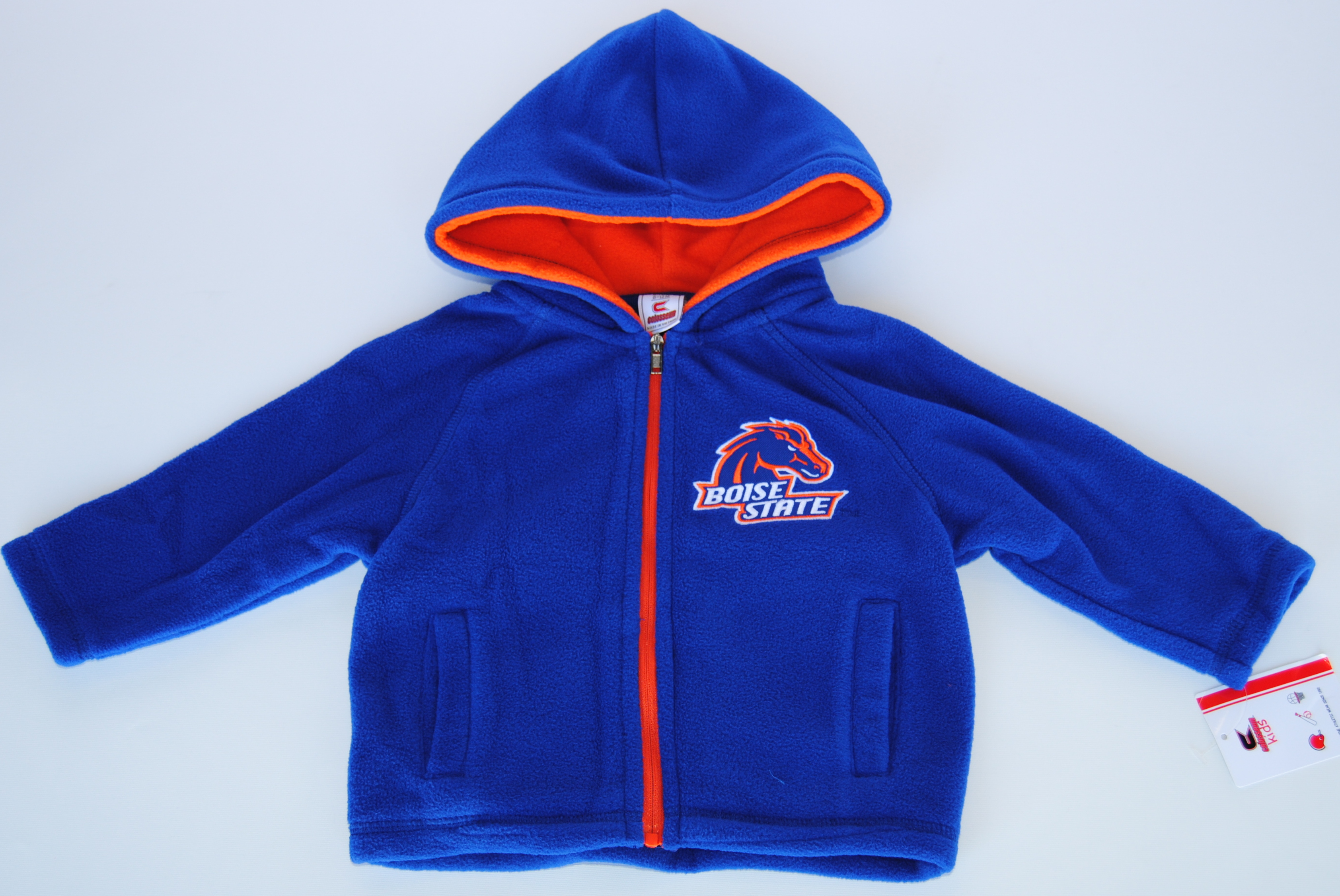 Colosseum Athletics Boise State Broncos Colosseum Blue Infant Zip Front Hooded Fleece (6-12M) at Sears.com