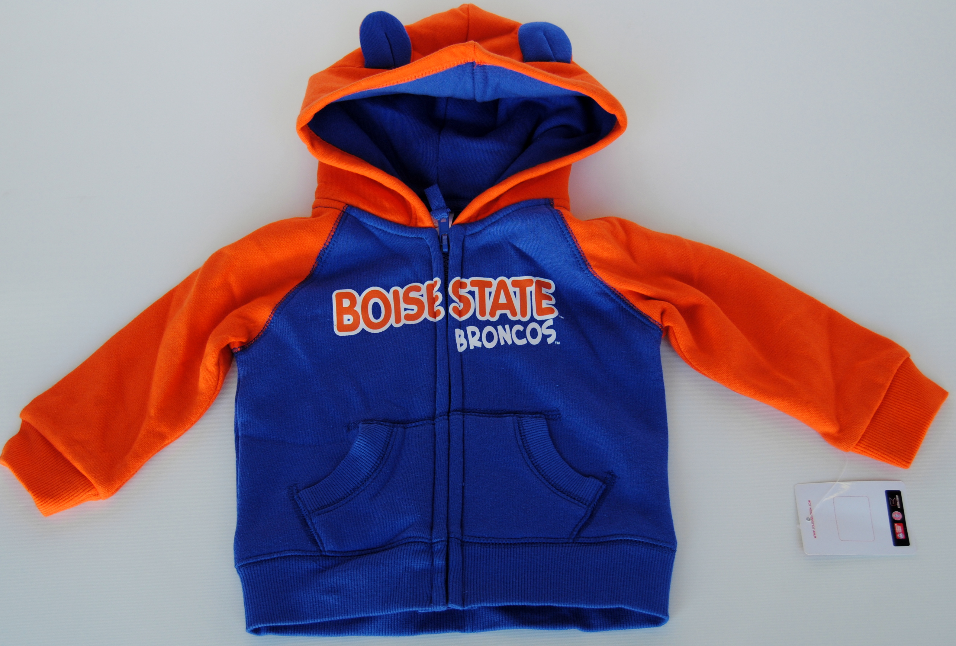 Colosseum Athletics Boise State Broncos Colosseum Blue Orange Infant Zip Hooded Sweatshirt (6-12M) at Sears.com