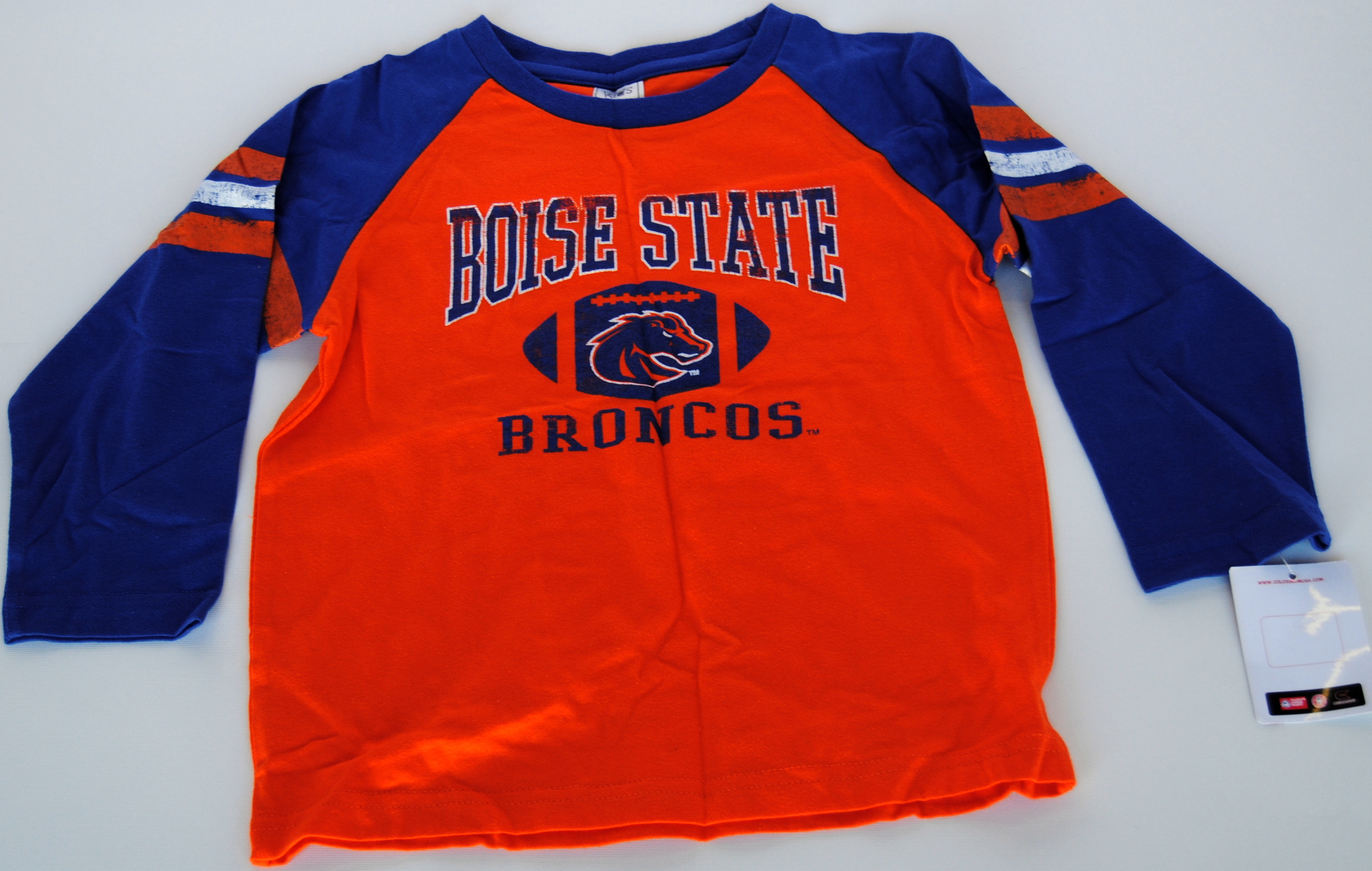 Colosseum Athletics Boise State Broncos Colosseum Orange Blue Infant Long Sleeve T-Shirt (3T) at Sears.com