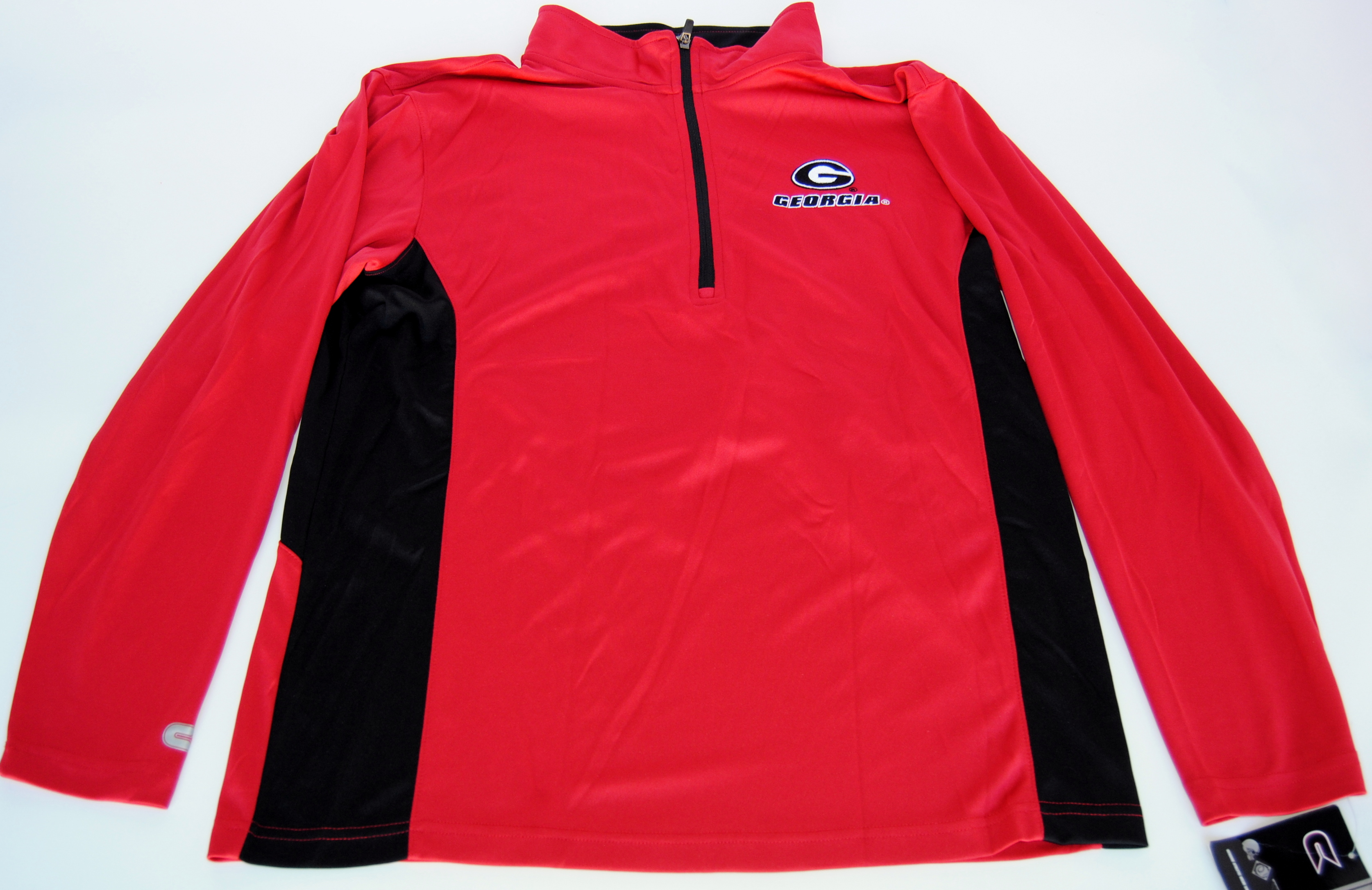 Colosseum Athletics Georgia Bulldogs Colosseum Athletics Red Black Half Zip Performance Pullover (L) at Sears.com