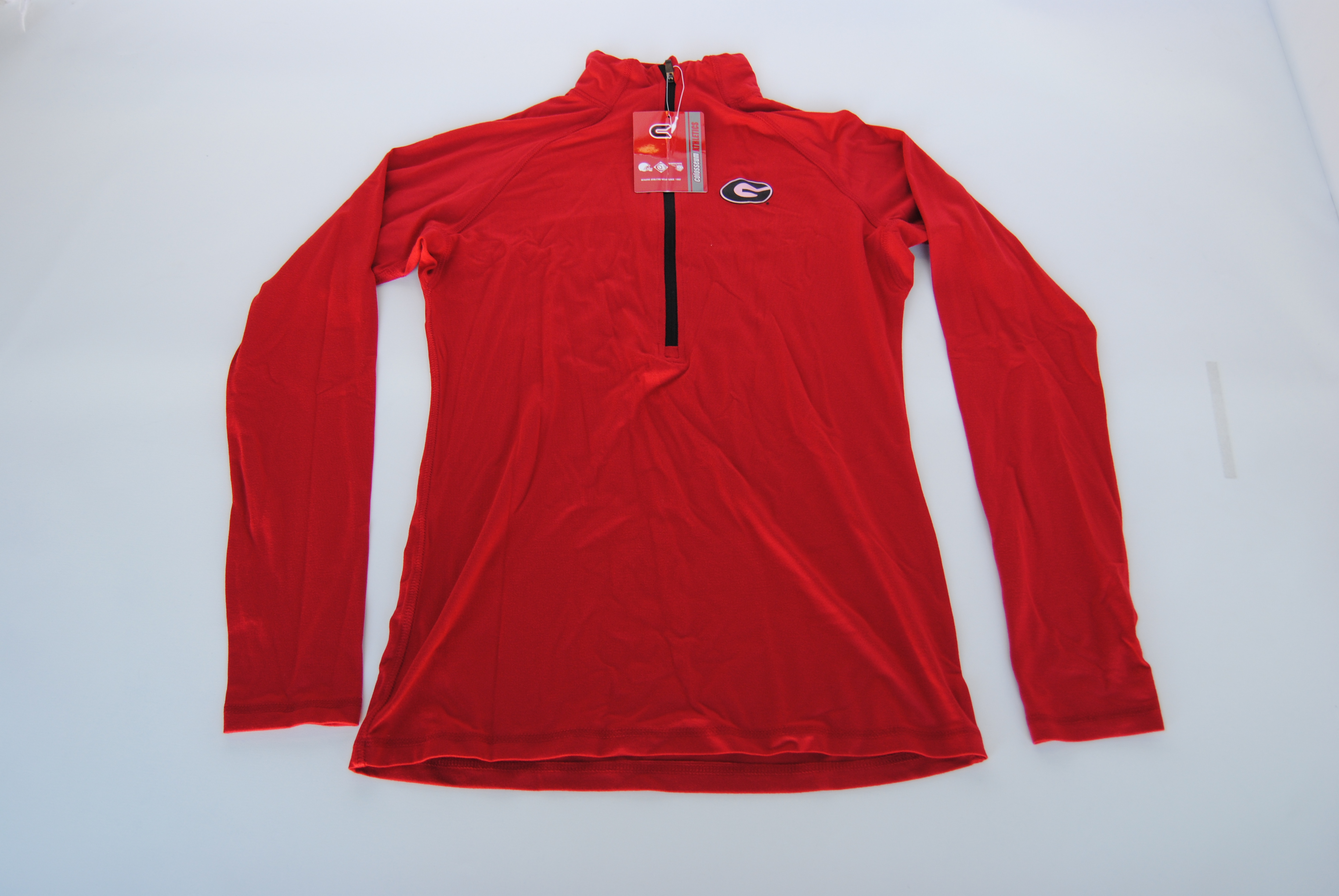 Colosseum Athletics Georgia Bulldogs Colosseum Red Half Zip Women's Performance Fleece Pullover (M) at Sears.com