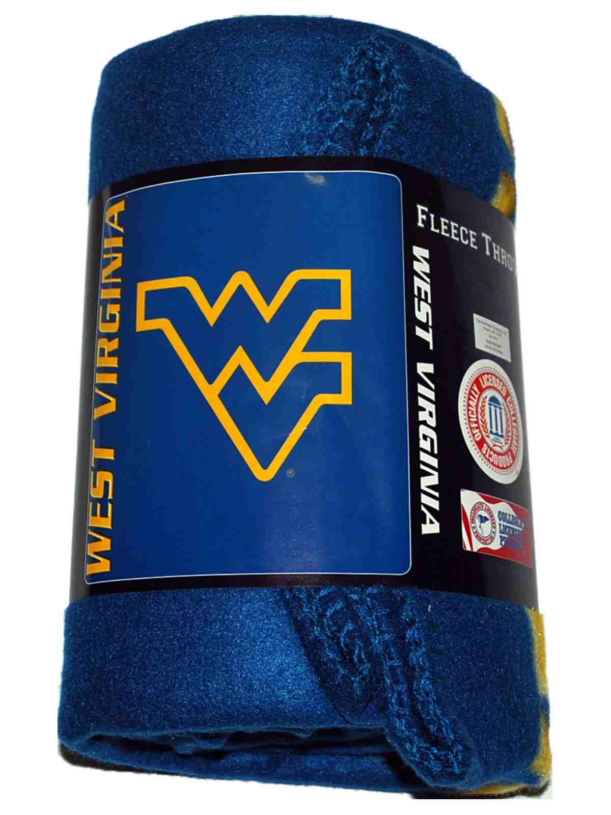 Northwest Company West Virginia Mountaineers Logo Northwest Co. Navy Fleece Throw Blanket 50