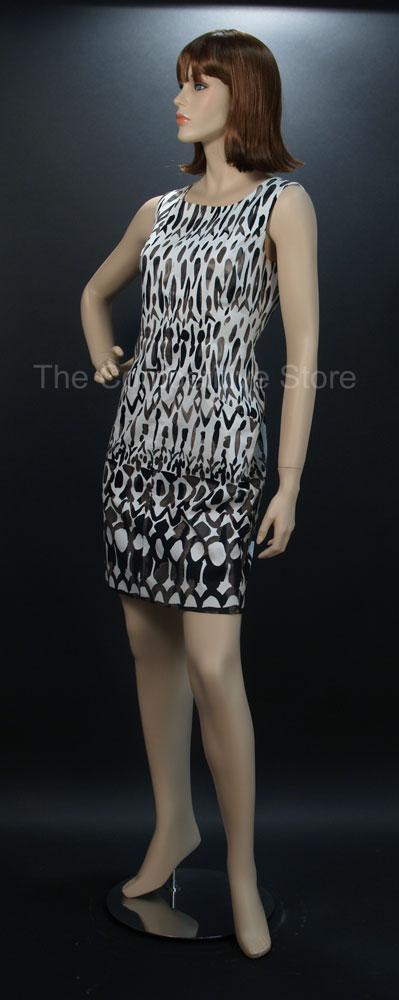 Joyce Female Full Body Fiberglass Mannequin Fleshtone with Wig