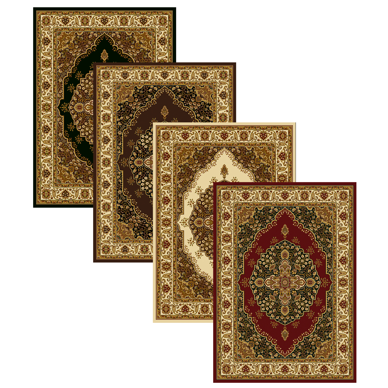 Medallion Area Rug 8x11 Oriental Border Persian Carpet
