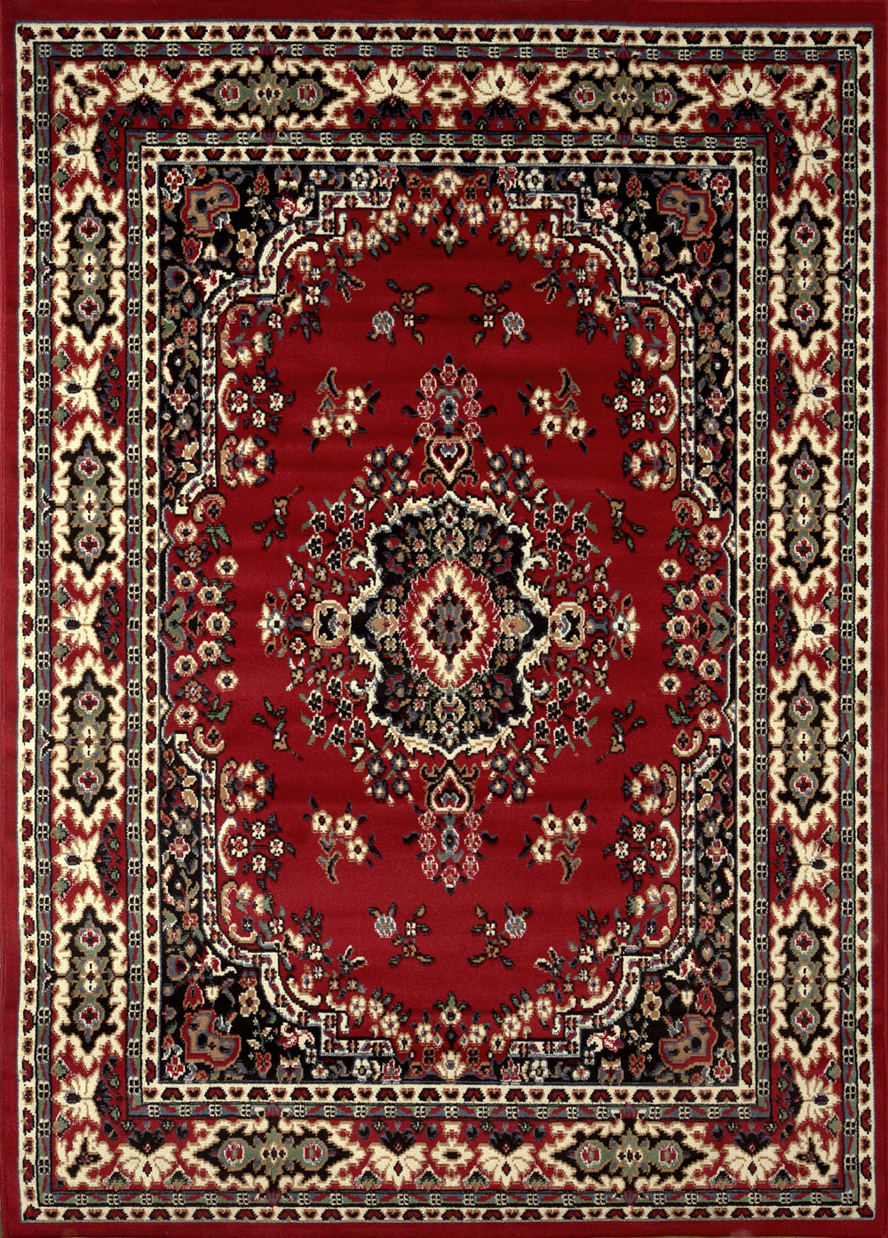 Large traditional 8x11 oriental area rug persian style for Types of carpets for home