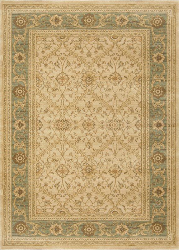 oriental cream green area rug 5x7 border persian