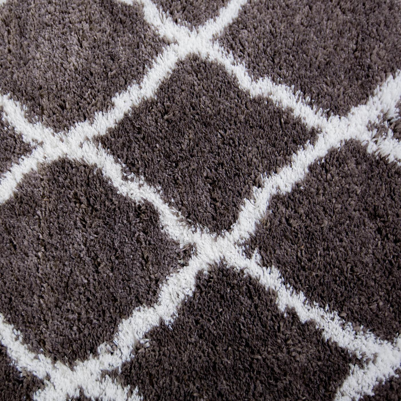 Shaggy Wool Rugs: Rugs Area Shag Rug Modern Moroccan Trellis Lattice Floor