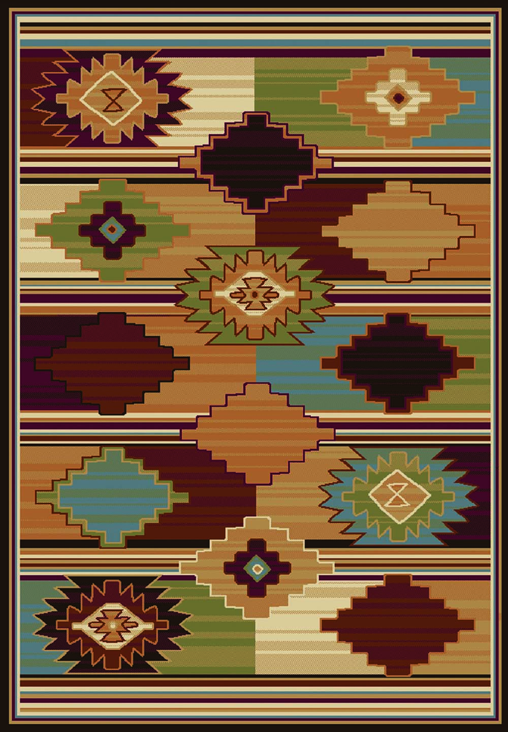 MultiColor-Transitional-Area-Rug-2x7-Modern-Shapes-Runner-Approx-111-x-72