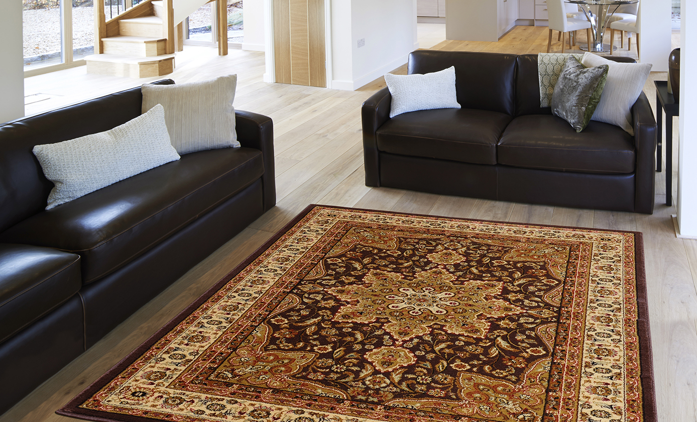 ORIENTAL-BLACK-BROWN-IVORY-RED-PERSIAN-MEDALLION-AREA-